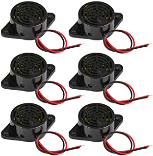 YANSHON 6pcs Buzzer Sonore SFM-27 Buzzer d'Alarme Avertisseur Sonore électronique avec Ligne pour Type de SFM-27