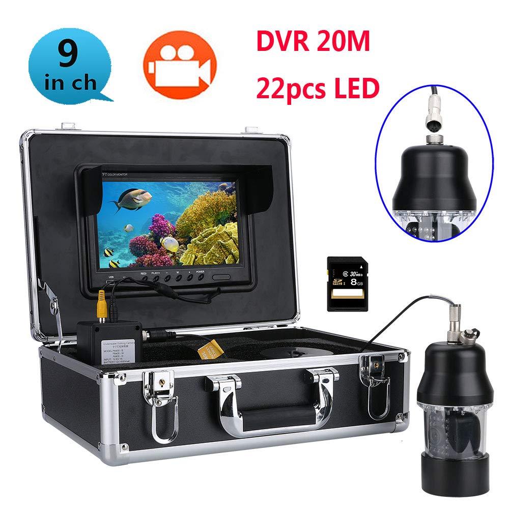 【大放出セール】 水中フィッシュファインダー HD 水中カメラ9インチ TFT カラーディスプレイ TVL CCD HD、DVR 記録機能 B07P17H8CG 700 TVL カメラキット (30m) B07P17H8CG, 小竹町:403485c5 --- arianechie.dominiotemporario.com