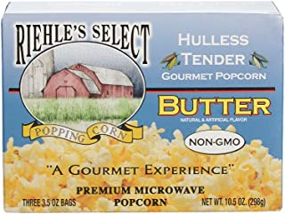 "product image for Riehle's Select Popcorn ""Hulless"" Butter Microwave Popcorn - 12 Boxes (36 Packs)"