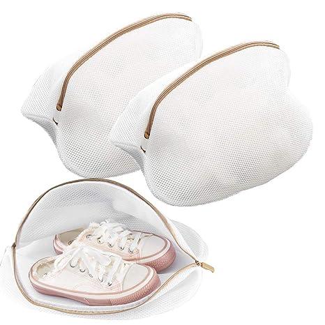 Nahuaa Bolsa de Lavadora para Zapatos 2pcs Premium de Malla ...