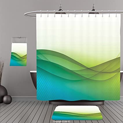uhoo trajes de baño   ducha cortinas Piso Esteras y tina towelsabstract  Decoración geométrica triángulo forma 373b3d6a010e