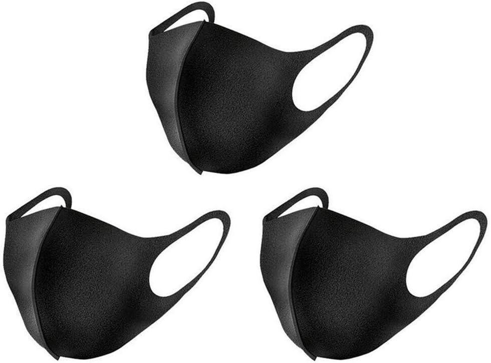 Glqwe 6 piezas máscara boca mujeres de los hombres de la salud unisex anti-virus de polvo del respirador (Color : Black, Quantity : 6 pieces)