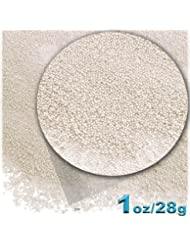 The Crafts Outlet 1-oz/28-g Opaque Finish, Glass, Microbeads 0.6mm, Ideal for Caviar Nails, Opaque Pearl