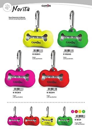 Camon Dispensador de Bolsas Silicona 20 bolsitas (Indica el Color en el Pedido): Amazon.es: Productos para mascotas