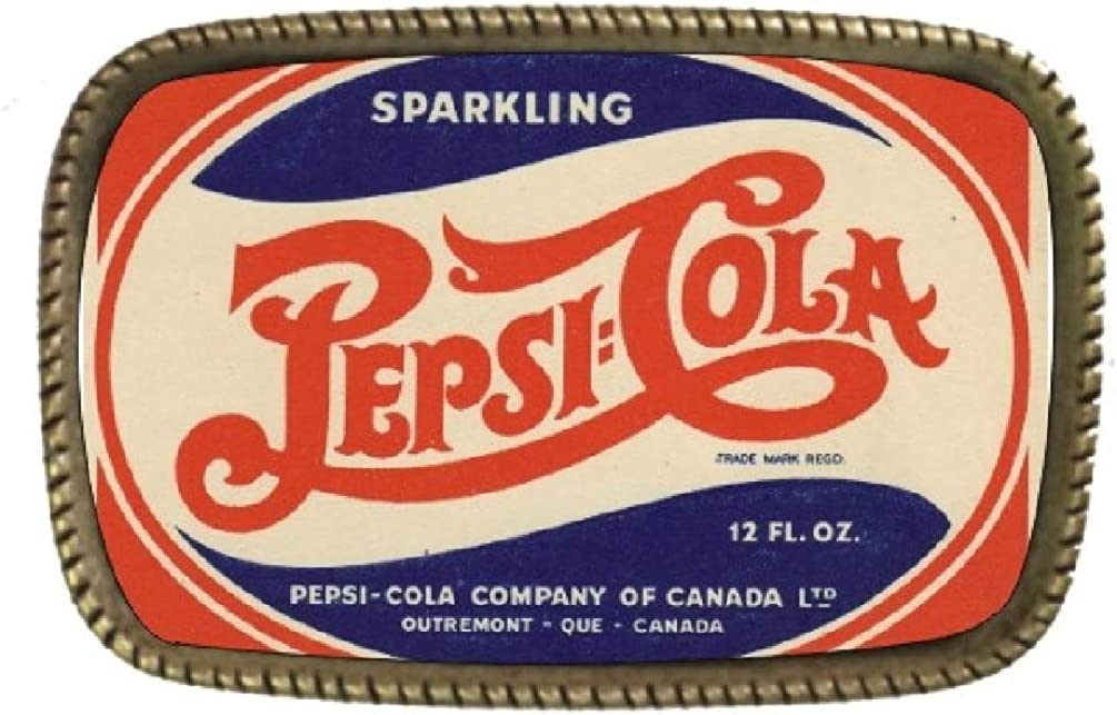 Sparkling Pepsi Cola Brass Belt Buckle Made In USA