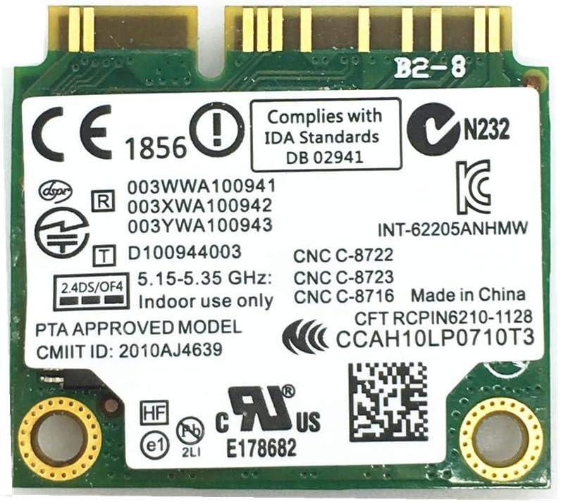 For 6205 Intel 62205ANHMW 802.11a//b//g//n 2.4G//5.0Ghz Wireless Mini PCI-E Card for EliteBook 8470p 8770W SPS 695915-001