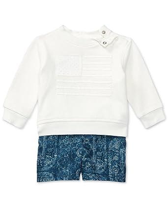 amazon com ralph lauren cotton pullover twill shorts set size 12