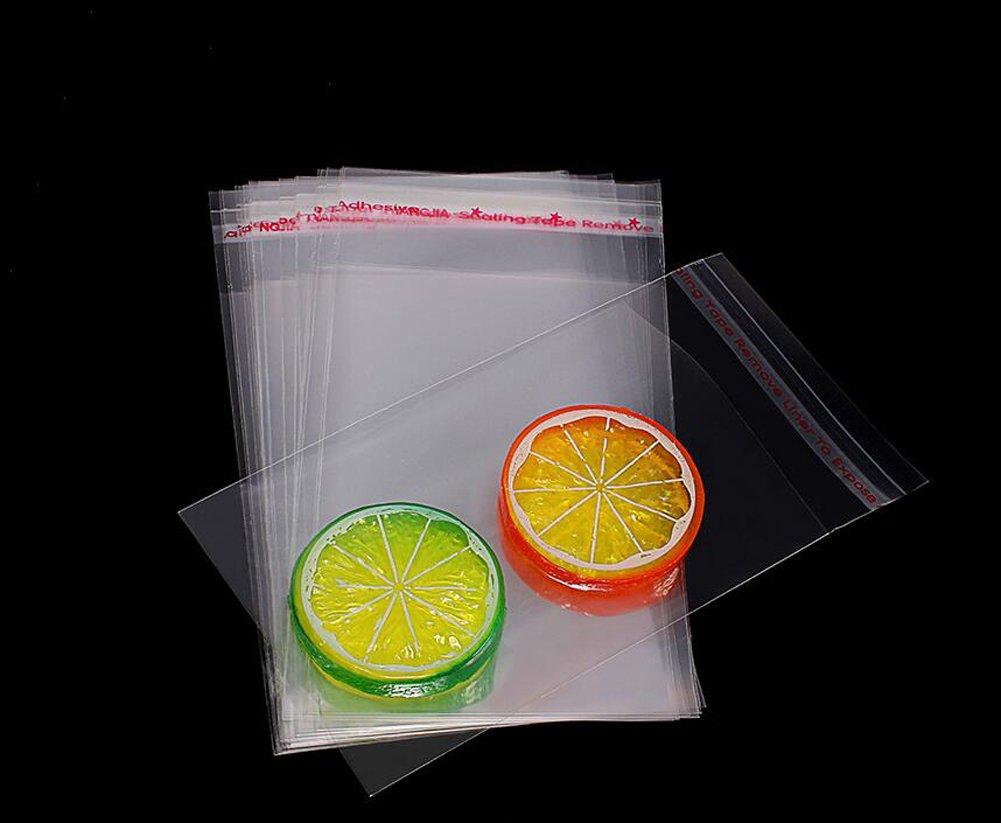100PCS 11.8 x 15.7inch plastique transparent auto-adh/ésif rescellable violoncelle//cellophane emballages cadeaux stockage demballage alimentaire sacs auto-scellant traiter pour biscuits bougie cookie