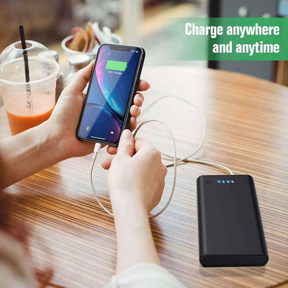 Power Bank Batterie de Secours Compatible avec Smartphones Tablettes et Autres Double Sortie Chargement Simultan/é 24800mah Chargeur Portable Ekrist 2020 Noir Classique Batterie Externe