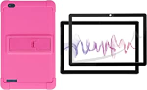 Onn 10.1 Tablet Case (Model: ONA19TB003), Onn 10.1 Tablet Screen Protector [Kickstand] Shockproof Silicone Case Cover + PC Tablet Bracket Stand Case for Onn 10.1
