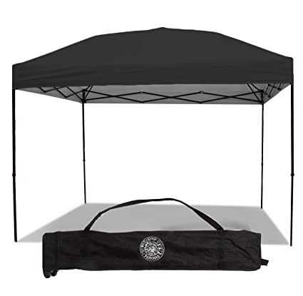 pretty nice 9fb24 c7d8f Punchau Pop Up Canopy Tent 10 x 10 Feet, Black - UV Coated, Straight Leg,  Waterproof Instant Outdoor Gazebo Tent, Bonus Roller Carry Bag
