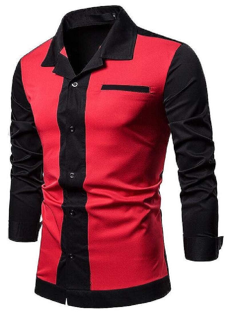 M/&S/&W Mens Fashion Cotton Button Down Dress Shirts Casual Slim Fit Shirts