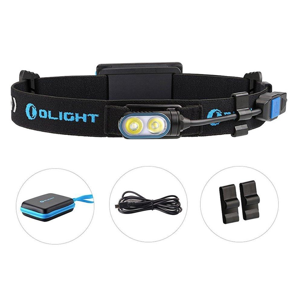 Olight® HS2 aufladbar LED Stirnlampe Running Light Kopflampe mit Cree XP-G2 CW LED - inkl. 1 x 3.7V 2000mAh Lipo - Ultra leicht