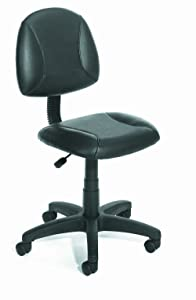 Boss Office Products Posture Task Chair without Arms in Black