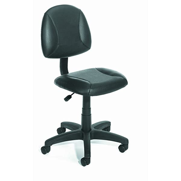 Boss Office Products B305 Posture Task Chair without Arms in Black