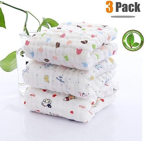 Toalla de baño de bebé con gancho, Chickwin 3-Pack Lindo suave y acogedor Recién nacido