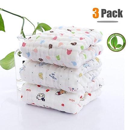Toalla de baño de bebé con gancho, Chickwin 3-Pack Lindo suave y acogedor