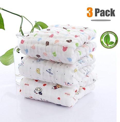 Toalla de baño de bebé con gancho, Chickwin 3-Pack Lindo suave y acogedor Recién nacido ...