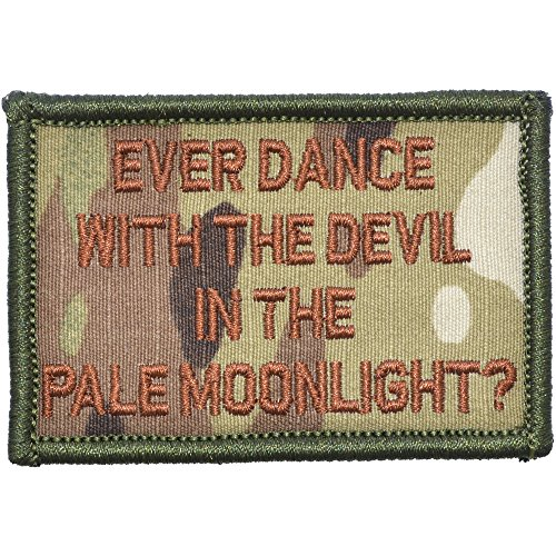 (Ever Dance with The Devil in The Pale Moonlight? Joker Quote - 2x3 Morale Patch - Multiple Colors (Multicam w/Spice) )