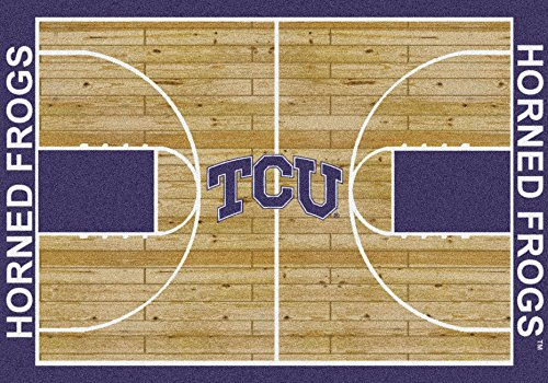 Texas Christian Horned Frogs 3 10'' x 5 4'' Home Court Area Rug by Milliken