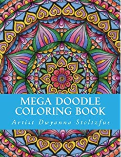 Mega Doodle Coloring Book 61 Beautiful Designs For In