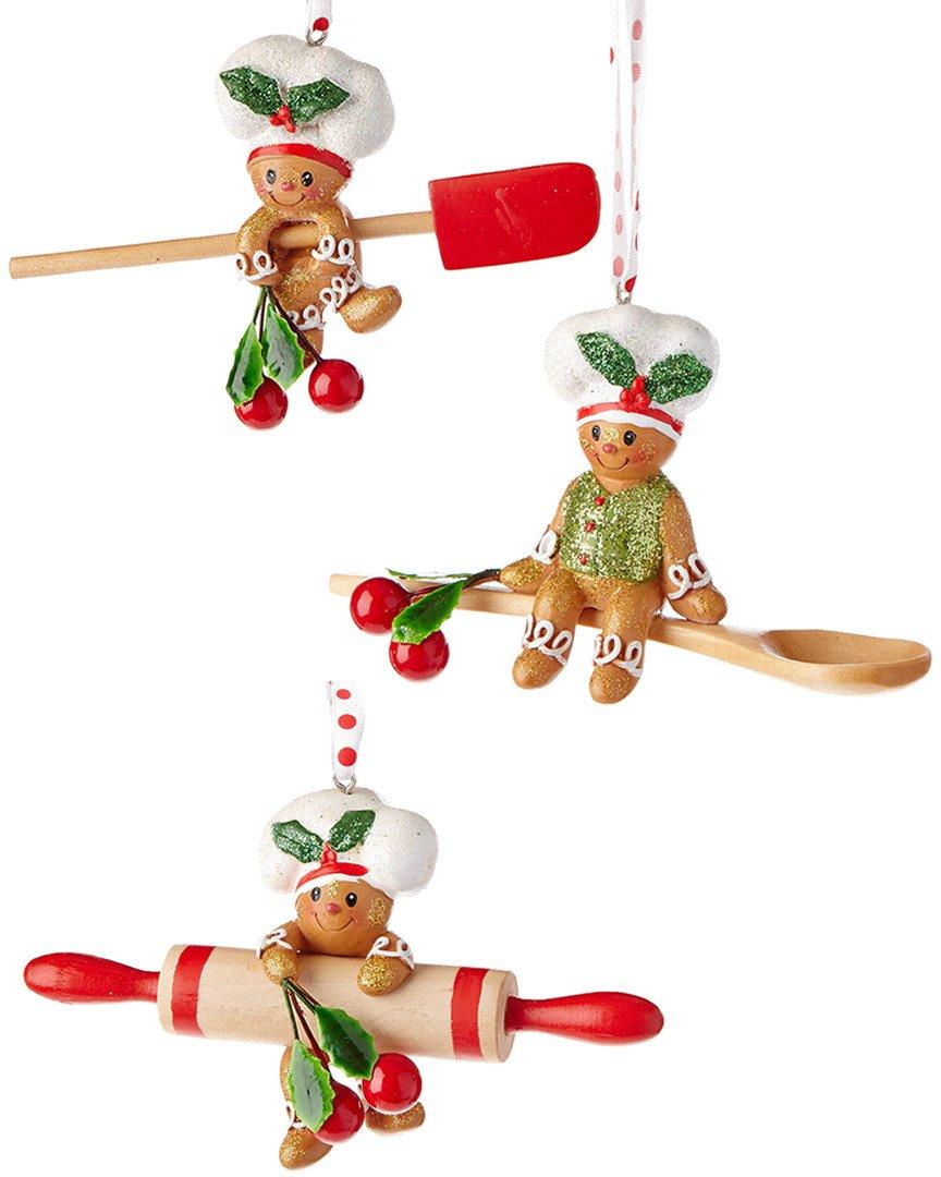 Kurt Adler 4-Inch Gingerbread Baking Tool Ornaments
