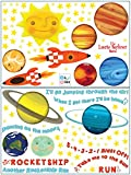 """Rocketship Run"" Peel & Stick Wall Art Sticker Decals – Laurie Berkner Edition Picture"