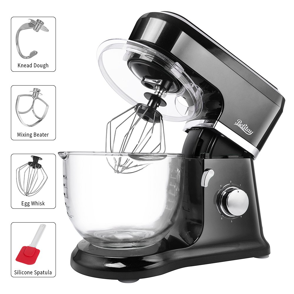 betitay electric stand mixer baking mixer with visual glass bowl 4 5 rh ebay com