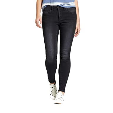 ad6cc9cf42c Mossimo Women s Mid-Rise Skinny Jeans (Curvy Fit) Black at Amazon ...