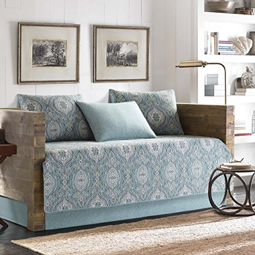 Tommy Bahama Turtle Cove 5-Piece Daybed Cover Set, Twin, Medium Green