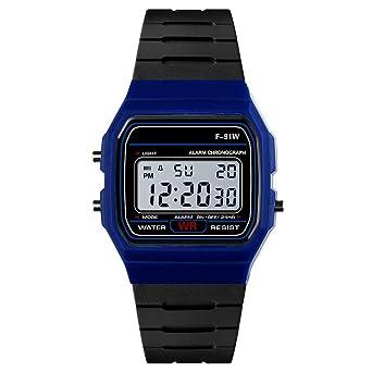 Hshing Montre Connectée Unisexe Montre Intelligente Sport Running Chronomètre Montre (Bleu): Amazon.fr: Montres