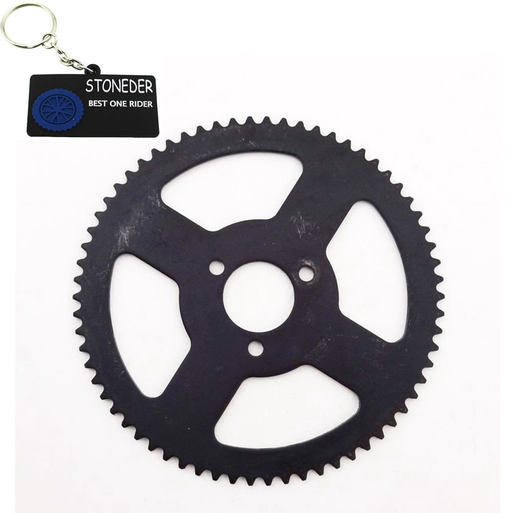 Stoneder nero 25H 66/Tooth posteriore ruota dentata per 2/tempi 47/CC 49/cc motore cinese mini moto Pocket Bike Minimoto
