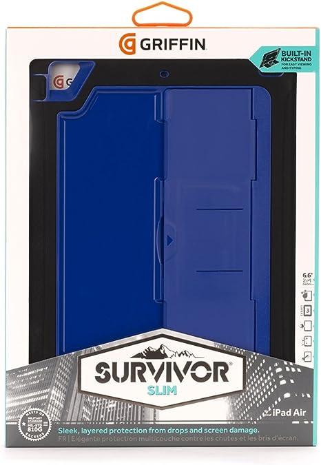 Griffin Survivor Slim Case for iPad Air BlackBlueBlue