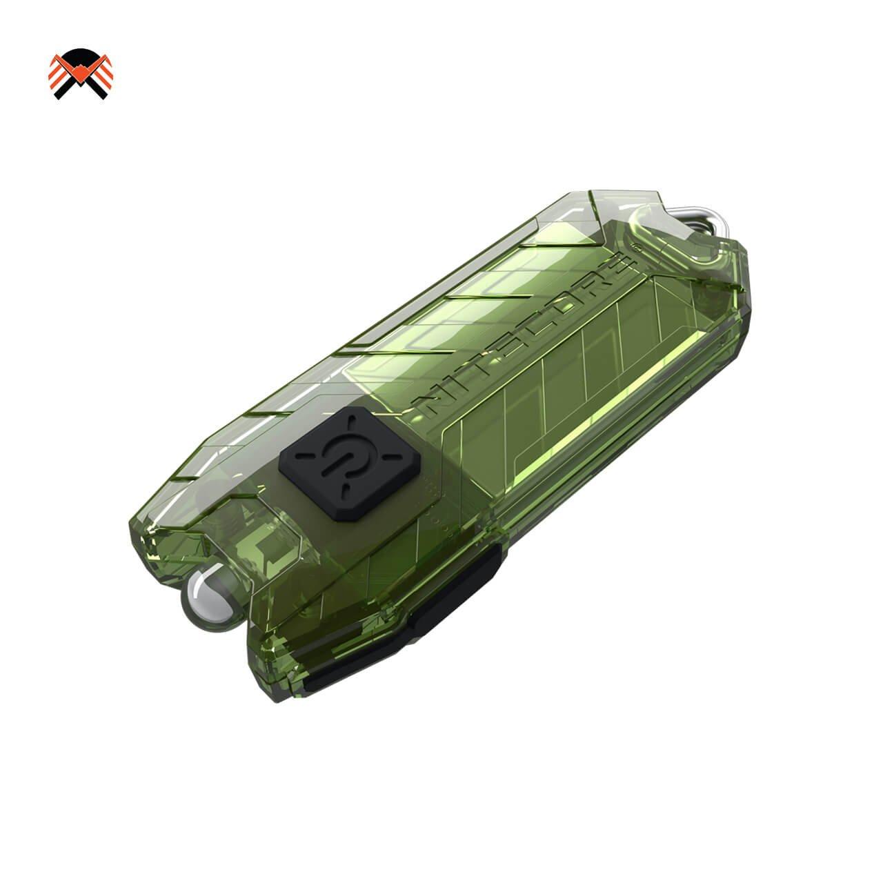 Mini Linterna Llavero Recargable USB - Recargable USB Ultra Ligera e Potente - 9.6 Gramos 48h Autonomía Certificado 45 Lúmenes Li-Ion Incorporado [ OLIVA ] Manventure