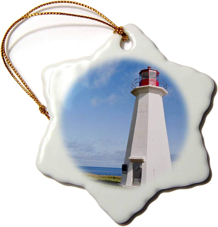 3dRose Prince Edward Island. Shipwreck Point Lighthouse.-CN09 MDE0010 -. - Ornaments (ORN_72989_1)