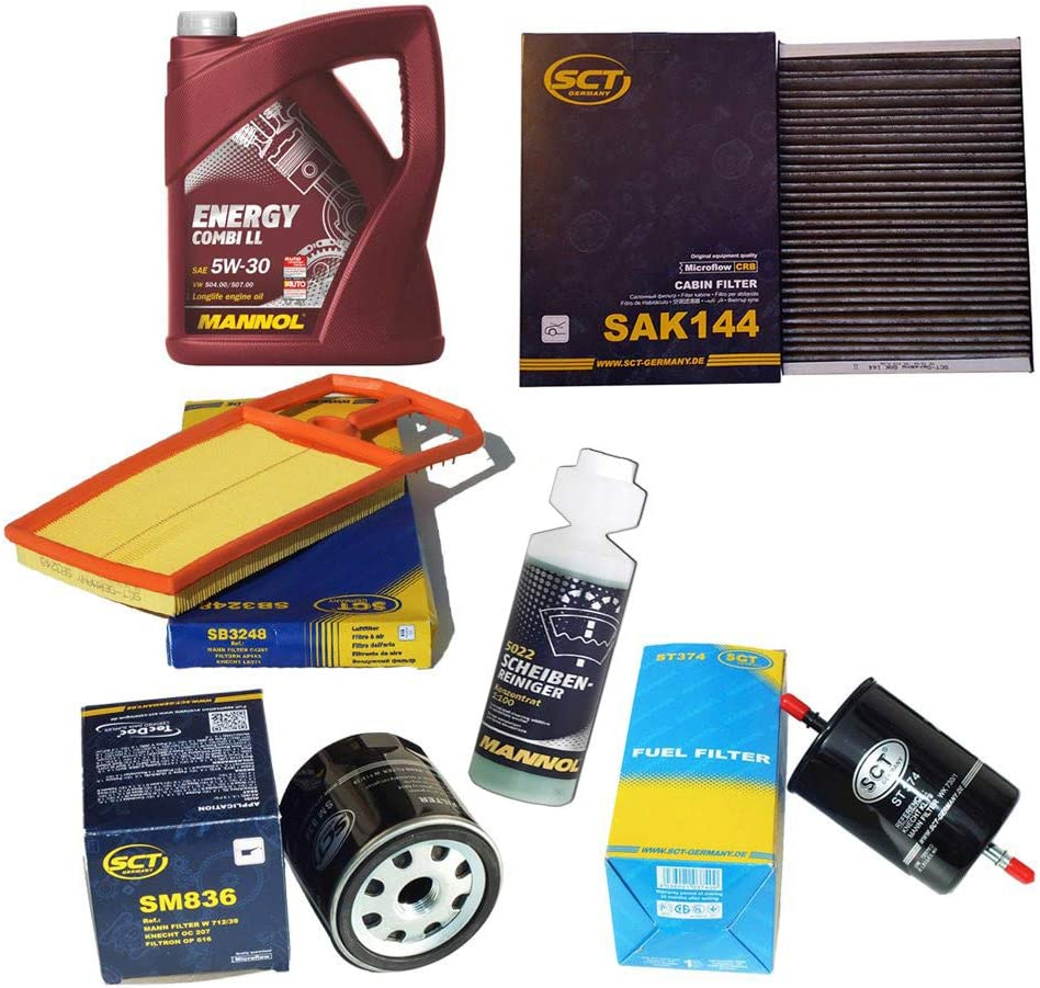 Inspektionspaket Sct Aktivkohlefilter Luftfilter Ölfilter Kraftstofffilter Motoröl Geschenk Auto