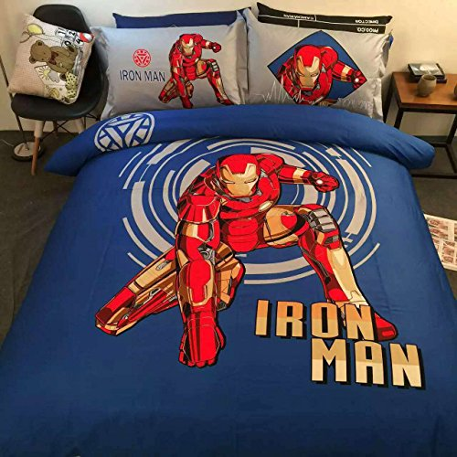 Sport Do All Seasons Iron Man Bedding Sets Stereo Pattern Pu