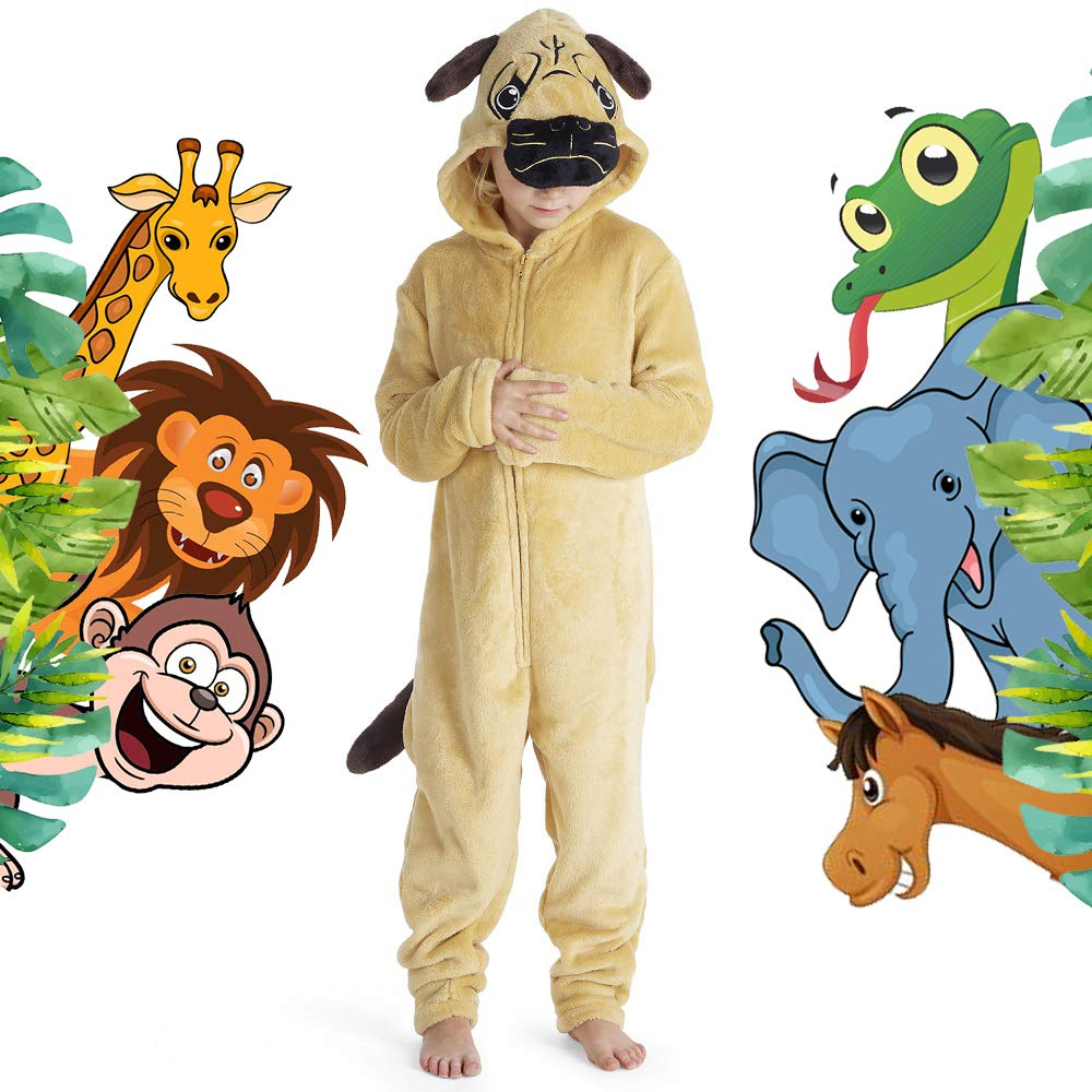 CityComfort Kids Onesie Fleece Twosie Children Pyjamas Jumpsuit for Kids Rainbow Unicorn Onesies Koala Penguin Cat Pug Dinosaur