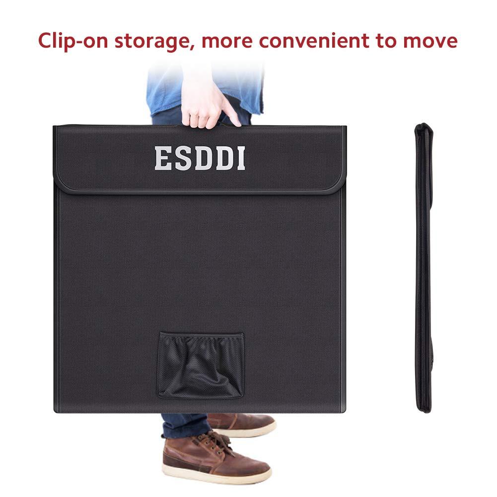 ESDDI Photo Studio Light Box 24//60cm Adjustable Brightness Portable Folding Hook /& Loop Professional Booth Table Top Photography Lighting Kit 156 LED Lights 4 Colors Backdrops