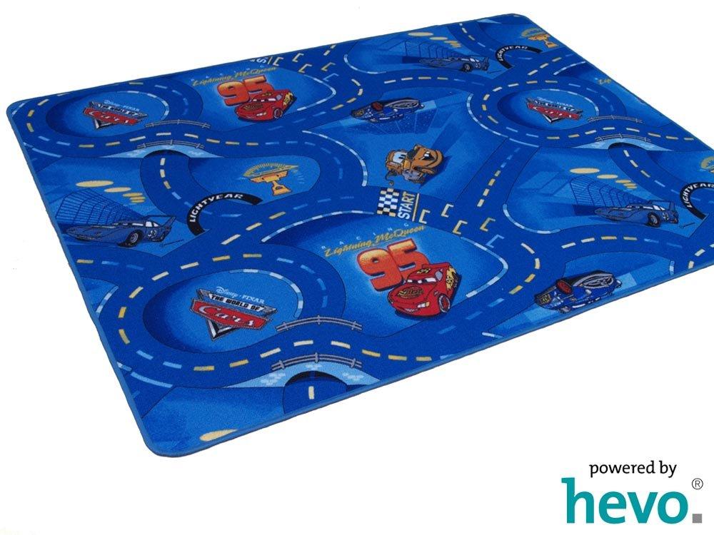 HEVO Disney Pixar World of Cars blau Strassen Spielteppich 200x400 cm