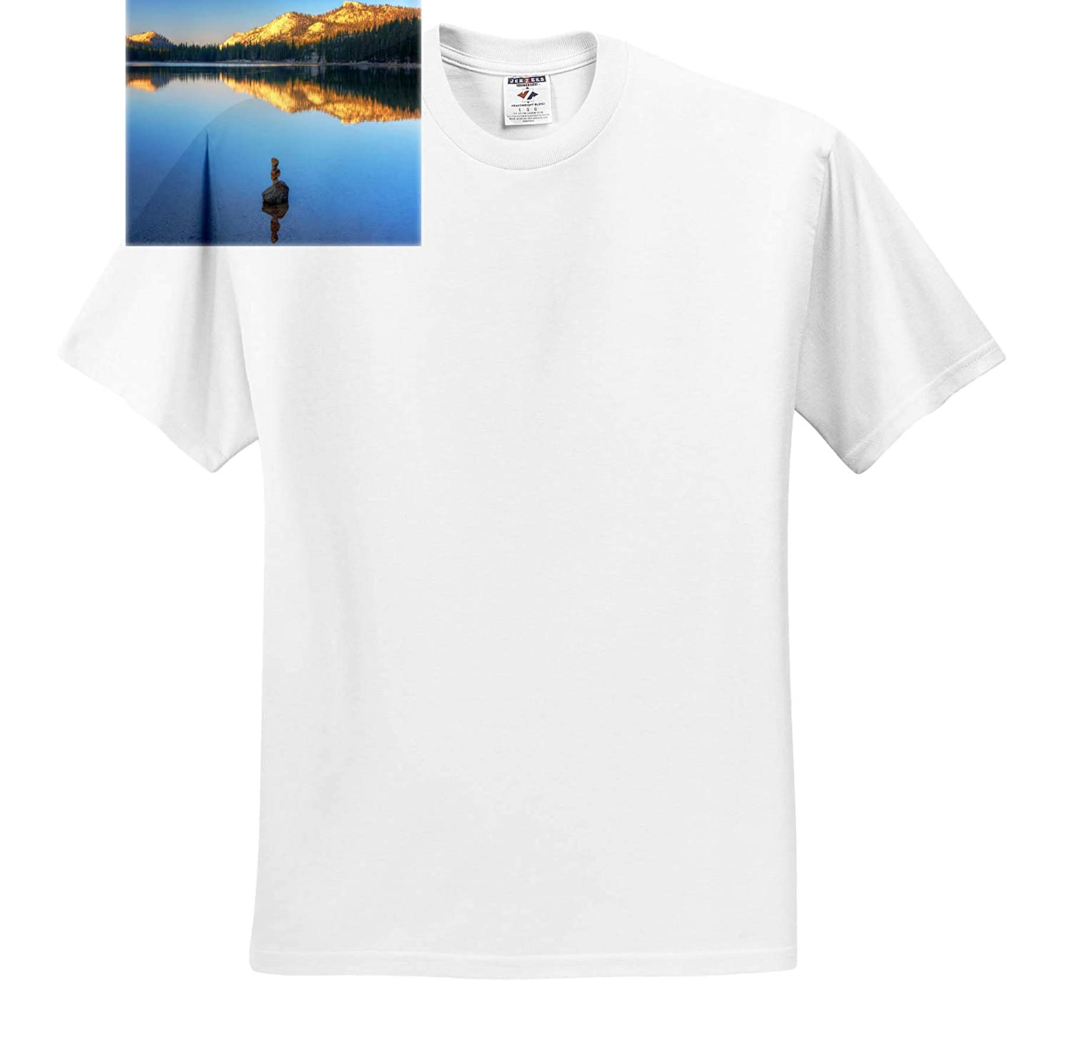 T-Shirts Blue Water Sunrise 3dRose Mike Swindle Photography Landscapes