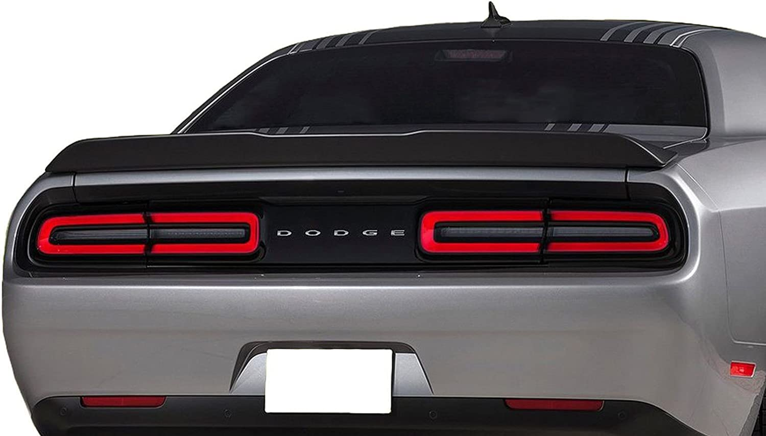 ECOTRIC Compatible Rear Trunk Lid Spoiler Wing Winglet Replace for Dodge Challenger 2008-2017 Demon Style ABS Primer Black