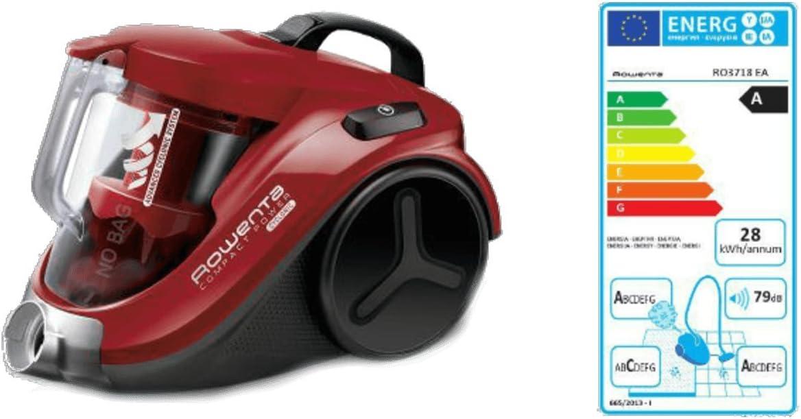Rowenta Compact Power Cyclonic RO3718EA - Aspirador, color rojo [Clase de eficiencia energética A] (Reacondicionado Certificado): Amazon.es: Hogar