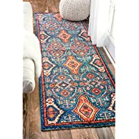 nuLOOM Traditional Ornamental Diamonds Multi Runner Rug (26 x 8)