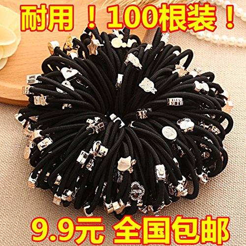 Korean elastic rubber band hair Hair Rope basis sets headdress head Shengpi box boxed unmounted Hair Accessories -