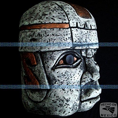 (Olmec Head Aztec Mayan Maya Sculpture Statue Pre-Columbian Ancient Art 072 )