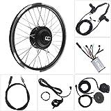 BTIHCEUOT Kit de Rueda de Bicicleta eléctrica, Motor de 36V/48V 350W Pantalla LED KT900S Kits de conversión de Bicicleta…
