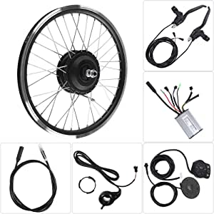 Kit de Conversión de Bicicleta Eléctrica, Rueda 700C 36V/48V 250W Motor KT900S Pantalla LED Kits de Motor de Bicicleta Eléctrica Controlador de Velocidad con Velocidad Máxima de 25 km/h(36V trasero): Amazon.es: Deportes