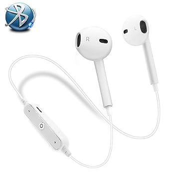 Auriculares Bluetooth,Auriculares Bluetooth 4.1 Cascos inálambrico Auriculares Deportivos con Mic Auriculares Manos Libre Estéreo Cancelación de Ruido ...