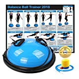 RitFit New Balance Ball Trainer with Resistance Bands (Free Exercise Wall Chart & DVD, Air Pump, Resistance Bands and More)